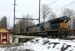 CSX 3438, 4385, 4084 on rail train O033